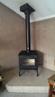 Wood stove installed in a house